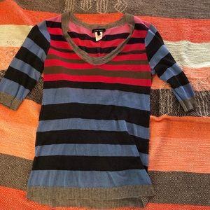 Nanette Lepore Striped Nautucsl Sweater M